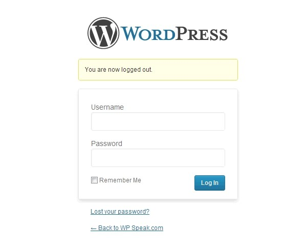 WordPress-log-out