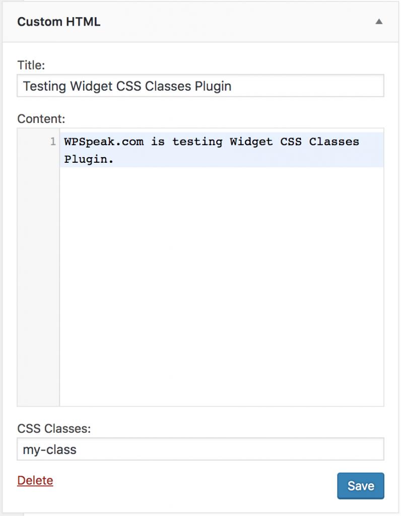 Widget-class