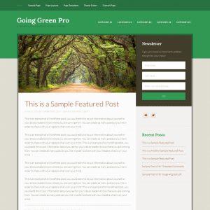 Going Green Genesis Theme