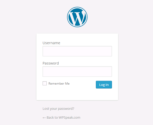 default-login-page