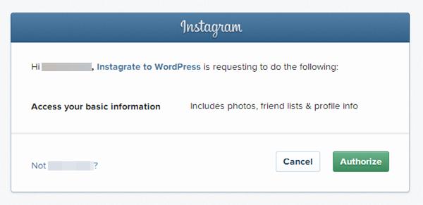 integrate Instagram with WordPress