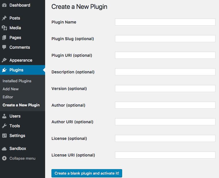 create-plugin