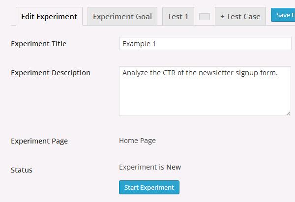 start-experiment