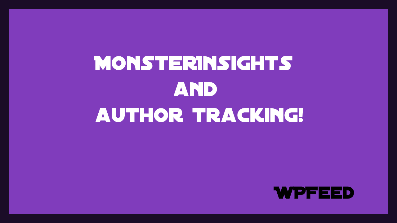 monsterinsights and author tracking