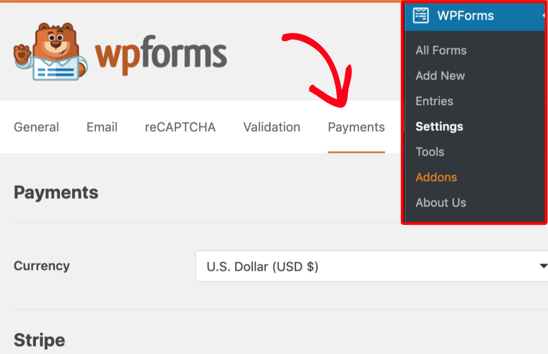 wpforms payments